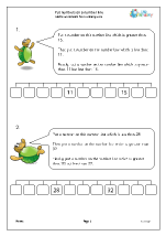 Put numbers on a number line