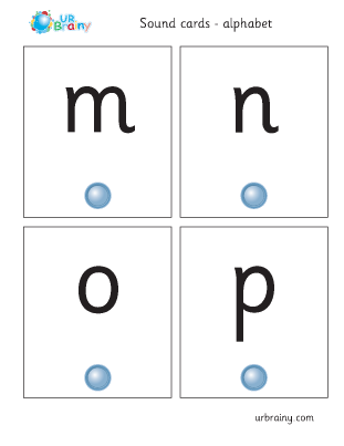 Preview of worksheet mnop sound cards