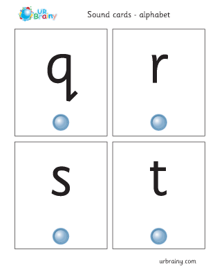 Preview of worksheet qrst sound cards