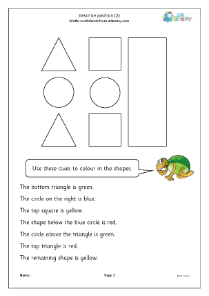Preview of worksheet Describe position 2