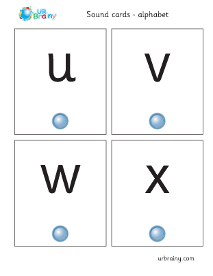 Preview of worksheet uvwx sound cards
