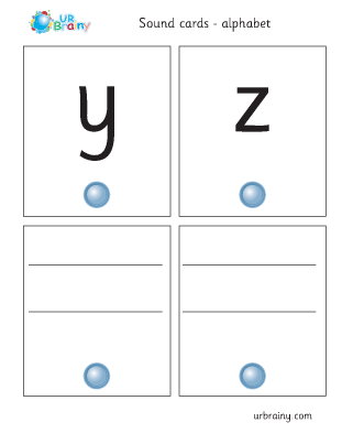 Preview of worksheet yz sound cards