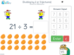 Dividing by 2 or 3 (pictures)
