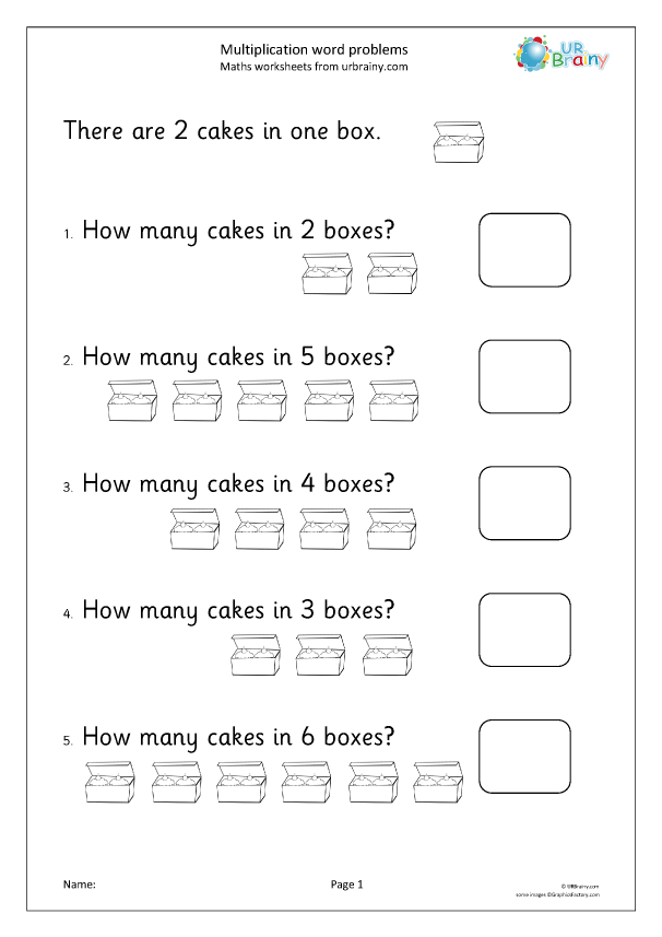 Preview of 'Multiplication word problems (1)'