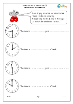 Revise telling the time to the half hour (2)