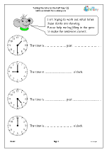 Revise telling the time to the half hour (1)