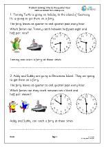 Problem solving: time to the half/quarter hour (2)