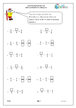 Subtracting fractions (2)