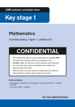 2018 KS1 Mathematics Administering Paper 1 Arithmetic