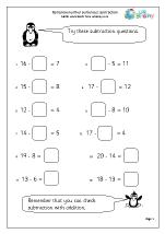 Subtraction: complete number sentences