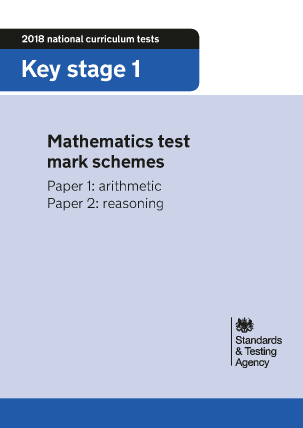 Preview of worksheet 2018 KS1 Mathematics Test Mark Schemes