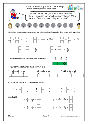 Fractions: reasoning and problem solving