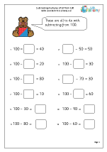 math worksheet : subtraction maths worksheets for year 2 age 6 7  : Multiples Of 10 Worksheet