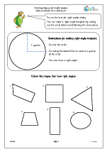 Finding shapes with right angles