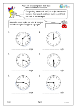 Acute and obtuse angles on clock faces