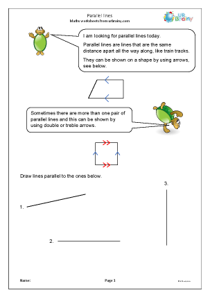 Preview of worksheet Parallel lines