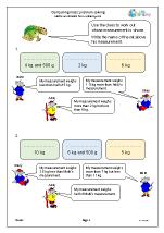Comparing mass: problem solving