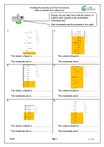 Finding the volume and the increments
