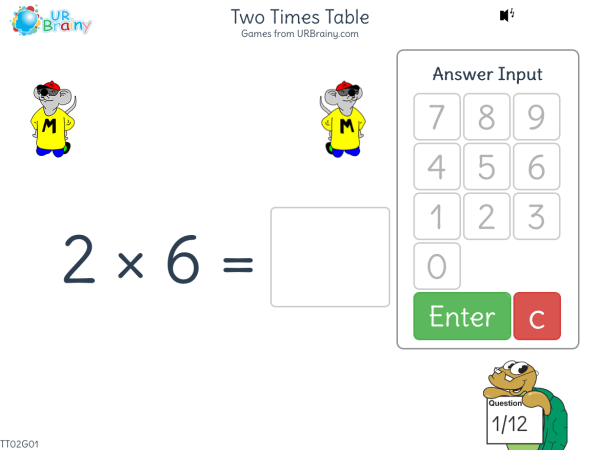 Preview of 'Two Times Table (2x)'
