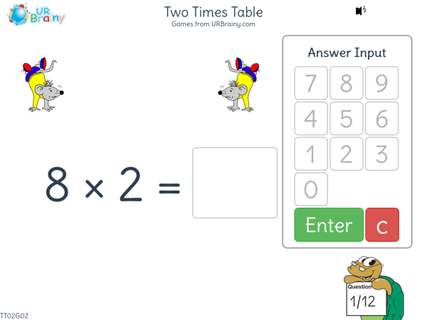Preview of 'Two Times Table (x2)'