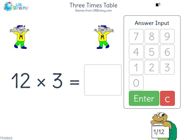 Preview of 'Three Times Table (x3)'