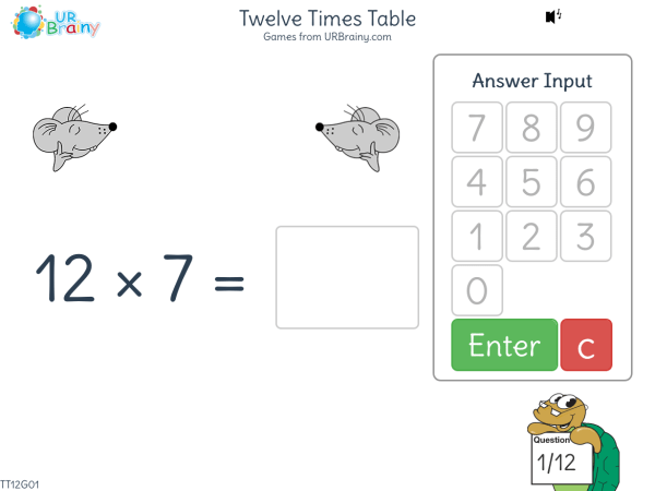 Preview of 'Twelve Times Table (12x)'