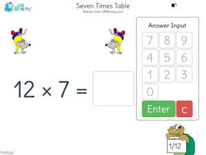 Seven Times Table (x7)