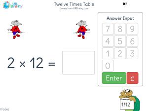 Twelve Times Table (x12)