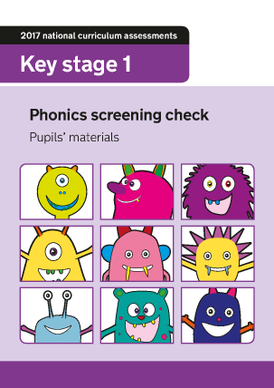 Preview of worksheet 2017 Phonics Screening Check Pupils Materials