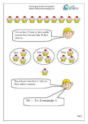 math worksheet : division maths worksheets for year 2 age 6 7  : Division With Remainder Worksheets