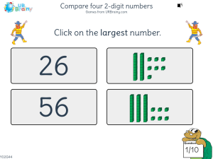 Preview of game Compare four 2-digit numbers