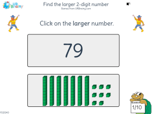 Preview of game Find the larger 2-digit number