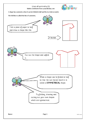 Preview of worksheet Lines of symmetry (1)