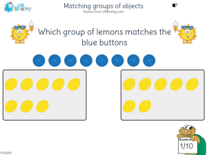 Preview of game Matching groups of objects