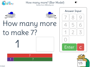 Preview of game How many more? (bar model)
