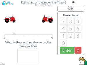 Preview of game Estimating on a number line (Timed)