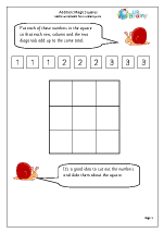 Addition: magic squares