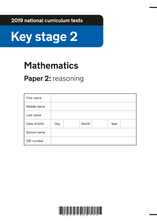 Preview of '2019 KS2 Maths Paper 2 Reasoning'