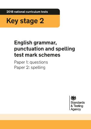 Preview of worksheet 2018 KS2 English Grammar Mark Schemes