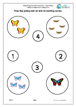 Matching Sets to Numbers - Butterflies
