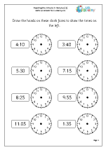 math worksheet : time maths worksheets for year 2 age 6 7  : Maths Worksheets Year 1