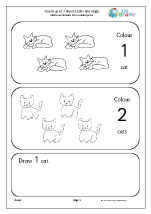 count up to 3 cats and dogs early counting maths worksheets for early reception age 4 5. Black Bedroom Furniture Sets. Home Design Ideas