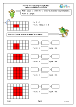 Finding the area using multiplication