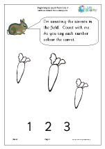 Counting and colouring from 1 to 3