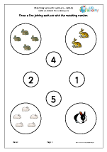 Matching Sets to Numbers - Rabbits