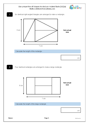Preview of worksheet Deduce facts about shapes (5G2a)
