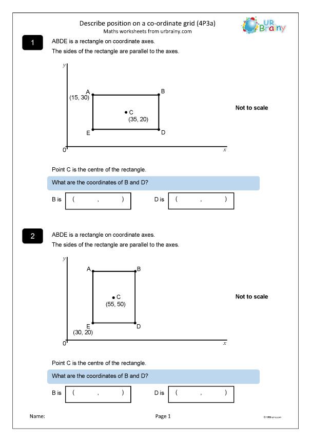 Preview of 'Describe position using co-ordinates (4P3a)'