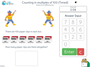 Preview of game Counting in multiples of 100 (Timed)
