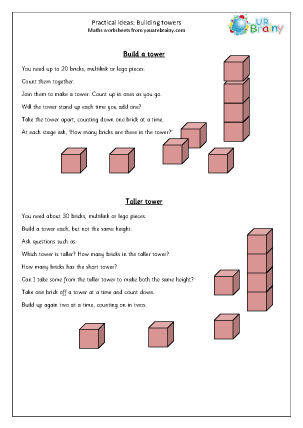 Preview of worksheet Building towers