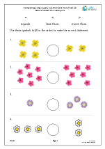 Comparing using the < > and = signs (flowers)